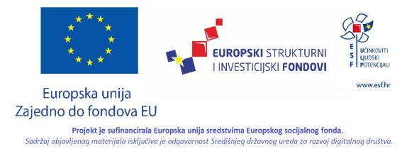 Logo Europske unije, Europskih strukturnih i investicijskih fondova te Europskog socijalnog fonda